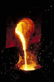 Image result for Image, molten steel