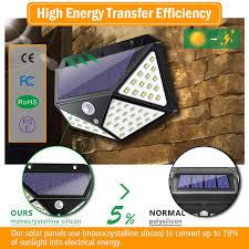<b>4pcs 100 LED Solar</b> Light Outdoor Waterproof 4-side Solar Sunlight ...