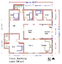 Shiva Series  Pre Designed Vastu HomesShiva East Vastu Plan