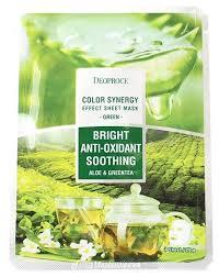 Deoproce <b>Маска тканевая с</b> экстрактами алоэ и зеленого чая ...