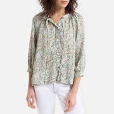 <b>Рубашка La Redoute С</b> принтом и тунисским вырезом 2(M ...