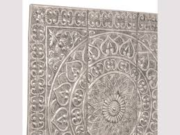 square embossed metal wall decor