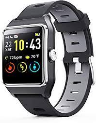ENACFIRE <b>Smart Watch</b>, <b>W2</b> GPS Fitness Tracker IP68 Waterproof ...