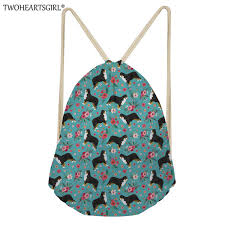 2019 <b>TWOHEARTSGIRL</b> Girls <b>Drawstring Bag</b> Portable Bernese ...