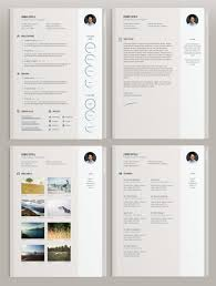 graphic designer resume cv vector classic style elegant 4 pages cv template