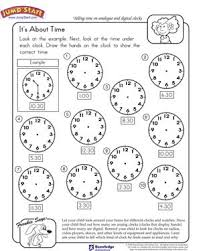 It's About Time - Free Math Worksheet for Kindergarten - JumpStartIt's About Time - Free Math Worksheet for Kindergarten