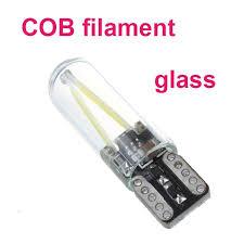 <b>2018</b> newest W5W <b>led T10</b> cob glass car <b>light Led</b> filament auto ...