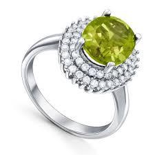 Серебряное <b>кольцо</b>, вставки: султанит, куб.цирконий, арт ...