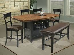 tall dining chairs counter: bar height kitchen table round dark walnut counter height dining
