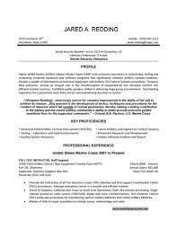 example of a military resume template example of a military resume