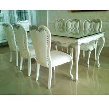 Silver Dining Room Set White Silver Dining Set Kencana Indonesia Furniture Dining