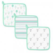 Купить <b>Детские мочалки SwaddleDesigns Washcloth</b> Muslin Green ...