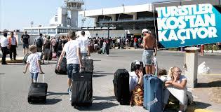 Turistler Kos Adası'nı terk ediyor