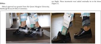 <b>Heels</b> made from ethyl vinyl acetate <b>9 cm</b> (right) and 3 cm (left ...