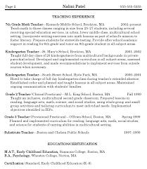 math teacher resumes template teacher resume samples free