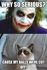 Why so serious? Cause my balls were cut off! - Misc - quickmeme via Relatably.com
