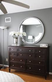 wall paint with brown furniture. paint color amherst grey benjamin moore love the gray walls with dark brown wall furniture f