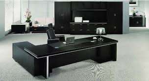 table designs for office table ideas dark brown wooden u shape office table rectangle shape black black wood office desk 4