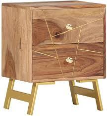 Festnight <b>Bedside Cabinet 40x30x50</b> cm Solid Sheesham Wood ...