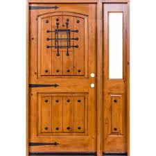 Krosswood Doors 44 in. x 80 in. Mediterranean <b>Unfinished</b> Knotty ...