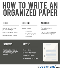 How to Write an Organized Paper   eLearners
