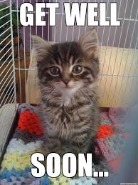 Get Well Soon Kitty - WeKnowMemes Generator via Relatably.com
