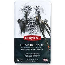 <b>Набор чернографитных карандашей Derwent</b> Graphic Medium ...
