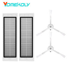 <b>2PCS</b> HEPA Filter <b>2PCS Side Brush</b> for Xiaomi Mi <b>Robotic Robot</b> ...