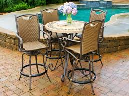 bar height patio chair: ht patio bar table and chairs outdoor bar furniture patio pub table and chairs organicoyenforma