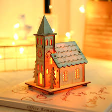 Christmas Decorations Sale Small <b>Wooden Led</b> House <b>Lighted</b> ...