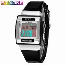 <b>SYNOKE Military</b> Wristwatch <b>Sports</b> Men LED Electronic Watch ...