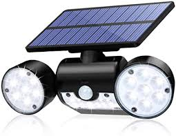 CINOTON <b>Solar</b> Flood <b>Lights</b> Outdoor Motion Sensor 30 <b>LED</b>
