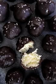 Salted <b>Dark Chocolate</b> Coconut <b>Bites</b>