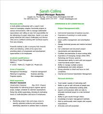 project manager resume template –   free word  excel  pdf format    project manager resume pdf free download