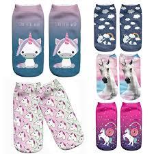 LNRRABC Hot <b>Sale Harajuku</b> 3D Print Unicorn Women Sock 13 ...