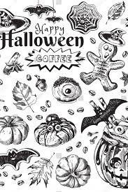 Happy <b>Halloween</b> Coffee, <b>Autumn Holiday</b> Hot Drink Illustration ...