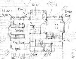 How To Draw Floor Plans To Scale   VAlineHouse Sketch Floor Plan