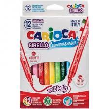 """<b>Фломастеры</b> двусторонние <b>Carioca</b> """"<b>Birello</b>"""" <b>12</b> цветов <b>12</b> штук ..."""