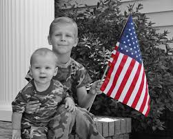 common military family challenges children experience part  kids patriotic photo american flag