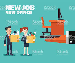 welcome to new job concept boss offering job to employee stock welcome to new job concept boss offering job to employee royalty stock vector