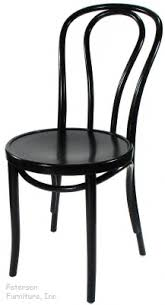 bentwood chair theatrical black finish three quarter view black bentwood chairs
