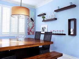 decor dining room makipera decorating with floating shelves hgtv dp friedmann contemporary blue d