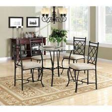room modern camille glass:  piece glass top metal dining set home living room modern furniture table chair