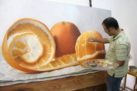 Image result for orange oil painting