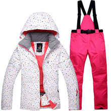 gsou snow double single board ski pants for female winter outdoor waterproof warm thickened windproof trousers size xs l