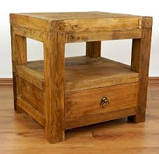 Deals For <b>Reclaimed Teak</b> Wood bedside <b>table</b>, Handmade ...