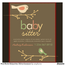 cute babysitting flyers mod birds babysitter cute babysitting flyers