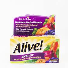 <b>Alive Energy 50</b>+ <b>Multivitamin</b> (60 tablets) — GreenLife Singapore