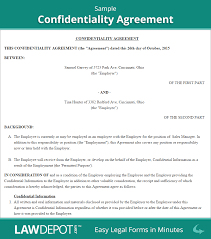 confidentiality agreement confidentiality contract us confidentiality agreement sample