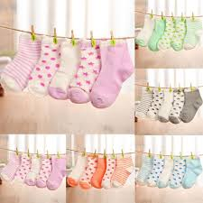 5pairs <b>Baby</b> Newborn <b>Girl</b> and <b>Boy Toddler's</b> Cotton Socks <b>Cartoon</b> ...